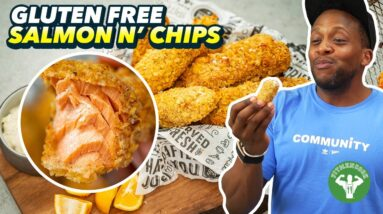 Gluten Free Salmon And Chips With Lighter Tartar Sauce