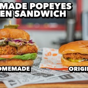 Reimagined Healthy Popeyes Chicken Sandwich with Reduced Fat