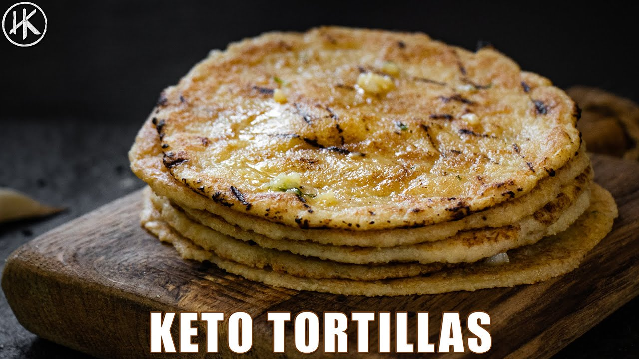 Keto Tortillas | How to make Keto Tortillas with almond flour (ONLY 1 NET CARB)