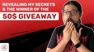 Revealing my secrets & the WINNER of the 50% GIVEAWAY!